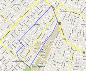 The boundaries of the school district for kindergarten admission to Lusher Charter school. (UptownMessenger.com)