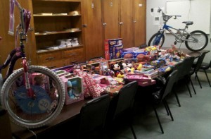 Toys purchased by the officers of the Second District in 2010. (UptownMessenger.com file photo)