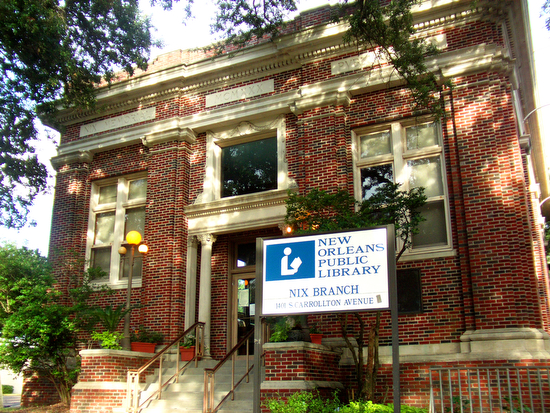 Nix library on South Carrollton Avenue (UptownMessenger.com file photo)