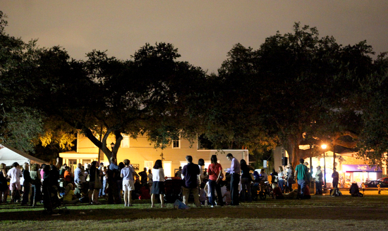 Crowds gather at the Night Out Against Crime at Laurence Square in 2011. (UptownMessenger.com file photo)
