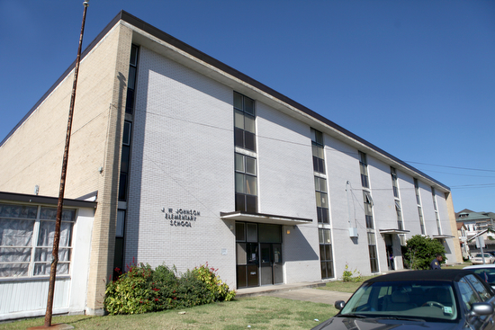 The former James Weldon Johnson Elementary School (photographed in 2011) will eventually be refurbished and assigned to KIPP Believe Primary under a new configuration for Carrollton public schools announced Thursday morning. (UptownMessenger.com file photo)