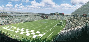 A rendering of the proposed football stadium on Tulane's Uptown campus. (via TulaneStadium.com)