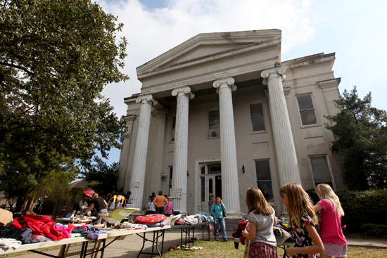 The old Carrollton courthouse, photographed during a school event in 2012. (UptownMessenger.com file)