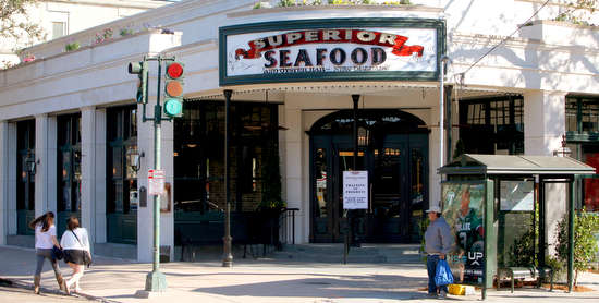 Superior Seafood & Oyster Bar is at the corner of Napoleon and St. Charles Ave. (UptownMessenger.com file photo by Sabree Hill)