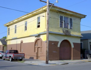 The vacant fire station at 4877 Laurel Street. (photo via the Preservation Resource Center, prcno.org)