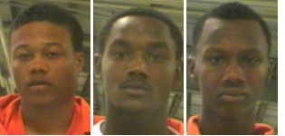 (From left) Christopher Davis, Joseph Davis and Sheldon Jefferson (via opcso.org)