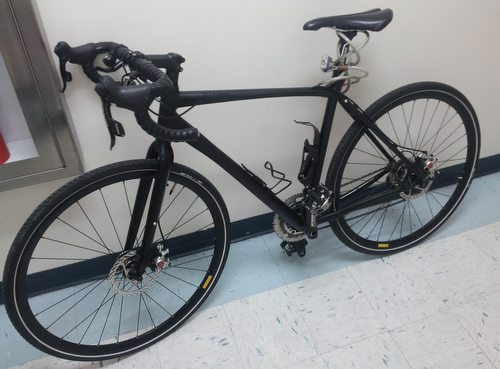 Police are looking for the original owner of this stolen racing bike they found. (Robert Morris, UptownMessenger.com)