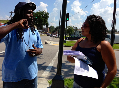 "Robert ""Kool Black"" Horton and Ameca Reali. (photo by jewel bush for UptownMessenger.com)"