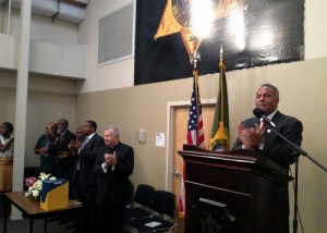 Sheriff Marlin Gusman speaks at the graduation ceremony. (photo by Timothy D. Ray for UptownMessenger.com)