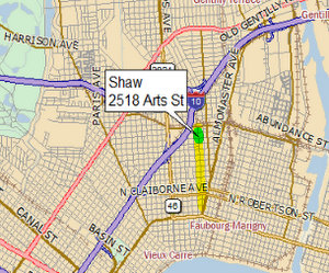 The location of the Shaw site. (map via auction documents at latterblum.com)