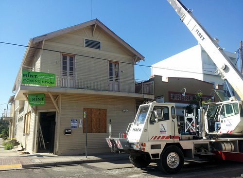 Equipment is delivered to 5100 Freret Street for the new Mint restaurant on Oct. 9. (Robert Morris, UptownMessenger.com)