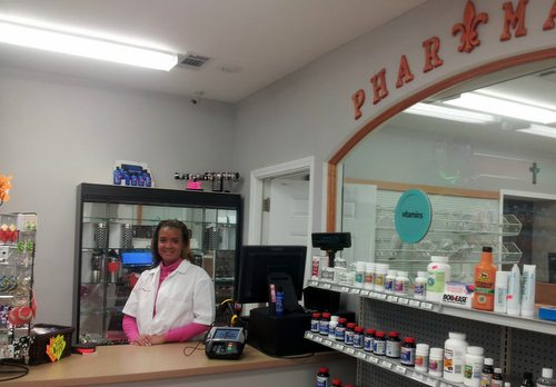 Dr. Lishunda Franklin at Crescent City Pharmacy. (Robert Morris, UptownMessenger.com)