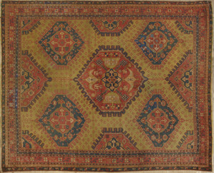 Palace-size Turkish Oushak carpet, measuring 12 feet 9 inches by 16 feet 2 inches, woven early 20th century.
