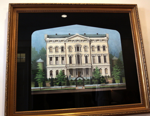 A painting of the Poydras Home's original building. (Robert Morris, UptownMessenger.com)