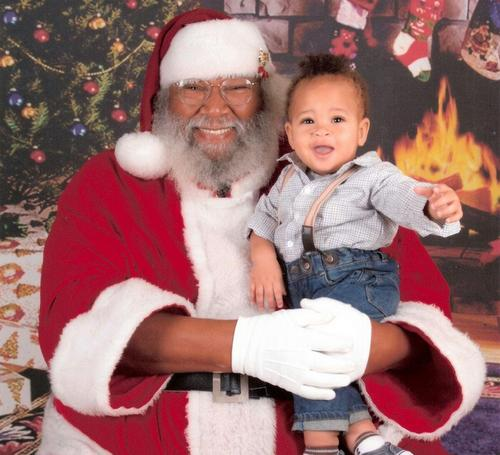 Seventh Ward Santa with Akhil Isiah Ricco-Thompson on Dec. 23, 2013. (submitted photo)