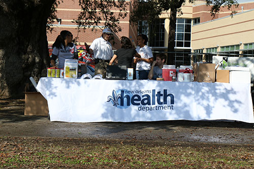 New Orleans Health Department was offering free flu shots as well as other medical services. (photo by Zach Brien for UptownMessenger.com)