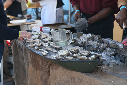 Raw oysters from Woody's Fish Tacos were a crowd favorite at the first annual Freret Street Oyster Jam. (Zach Brien, UptownMessenger.com)