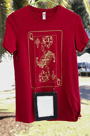 Marie Laveau T-shirt by inexplicable confetti. All Inexplicable Confetti are handmade in uptown New Orleans.