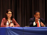 Stacy Head and Eugene Green. (Robert Morris, UptownMessenger.com)