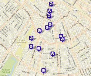 Robberies since Feb. 5. (map via NOPD)