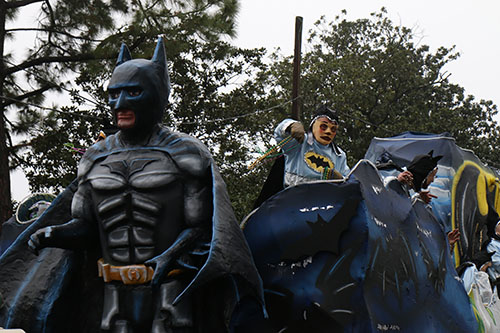 Batman & the Joker. Krewe of Carrollton 2014. (Zach Brien, UptownMessenger.com)