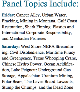 19th Annual Tulane Summit on Environmental Law & Policy panelist topics (via  the Tulane Environmental and Energy Legal Society)