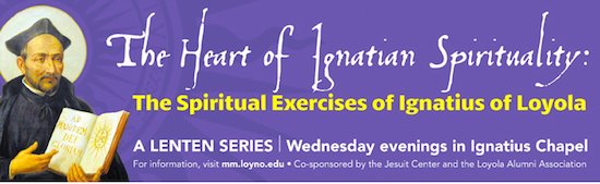 The Loyola University Jesuit Center Lenten lectures will be held on Wednesday nights in March and April to observe the season of Lent.  Each of the events are free and will take place on Loyola's main campus in the Ignatius Chapel (via loyno.edu)