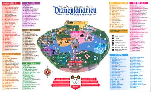 "A map of ""Dizneylandrieu"" distributed by Krewe of Spank members during the Krewe du Vieux parade Saturday night. (image via @noladishu on Twitter; click for larger version)"