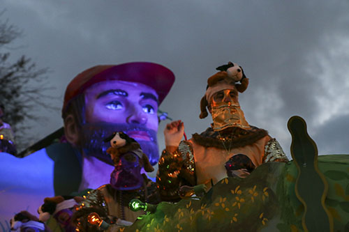 Hunting Dogs float, Bacchus 2014. (Zach Brien, UptownMessenger.com)
