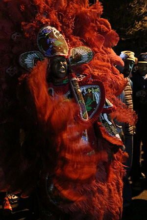 Big Chief of the Golden Blades on St. Joseph's Night. (Zach Brien, UptownMessenger.com)