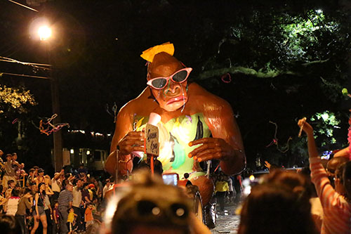 "The Bacchus ""Queen Kong"" float. (Zach Brien, UptownMessenger.com)"
