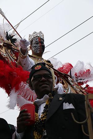 Zulu King Garren Mims. (Zach Brien, UptownMessenger.com)