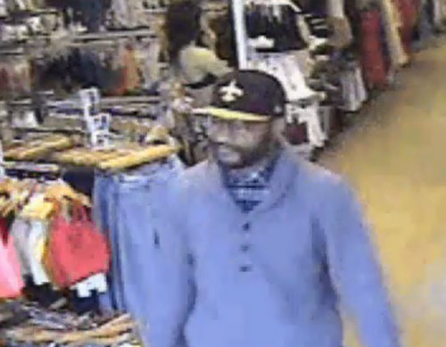 An image of the suspect in a March 6 armed robbery at American Apparel on Magazine Street. (via NOPD)