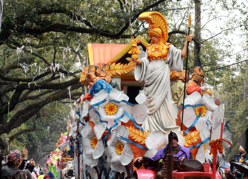 "The Rex ""Athena"" float. (Robert Morris, UptownMessenger.com)"