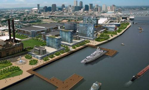 A rendering of the upriver expansion of the Ernest N. Morial Convention Center (via mccno.com)
