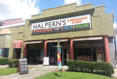 Halpern's Furnishing Store on St. Charles Avenue. (Robert Morris, UptownMessenger.com)
