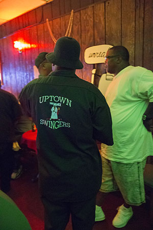 Uptown Swingers meet before their June 22nd second line. (Zach Brien, UptownMessenger.com)