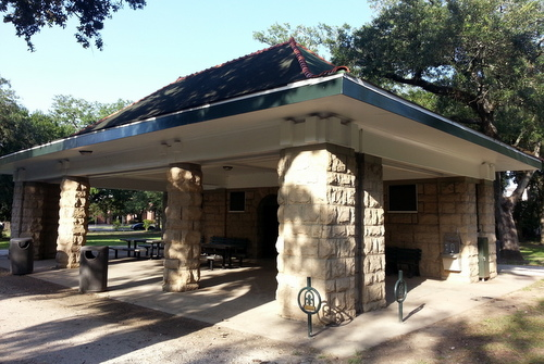 Audubon Park's Shelter 11, near St. Charles Avenue, was recently renovated with private donations, and the park is asking the city to pay for similar renovations to the bathroom complexes on The Fly. (Robert Morris, UptownMessenger.com)