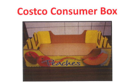 An image of the box used for peaches sold in Costco stores that are being recalled because of the possibility of bacterial infection. (via costco.com)