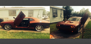 Police have recovered the St. Anthony Street victim's stolen Dodge Challenger. (image via NOPD)