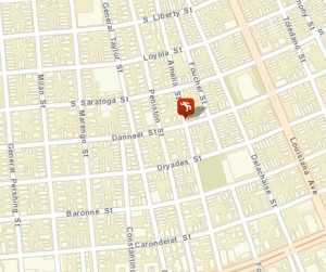 The victim was found in the 2000 block of Amelia Street. (map via NOPD)