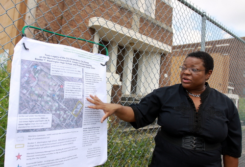 Toxins at Booker T. Washington school site are 100 times above acceptable levels, activists say (live coverage)