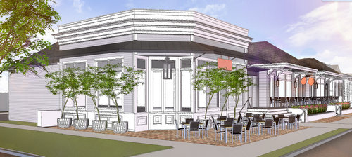 A rendering by Studio WTA architects of the redevelopment planned for the corner of Nashville and Magazine. (via nola.gov)