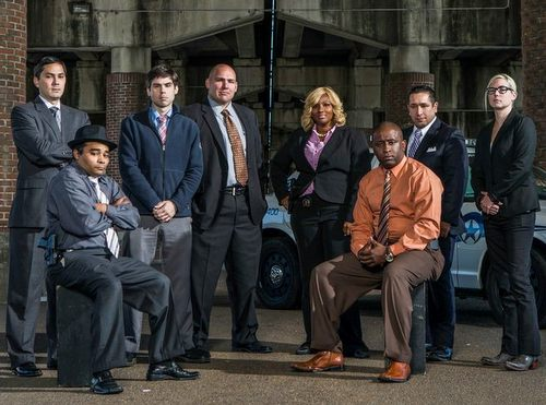"NOPD Homicide detectives in a promotional photo for A&E's show ""The First 48."" (via facebook.com)"