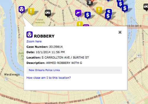 A woman was robbed at gunpoint just before midnight Thursday, police said (NOPD).