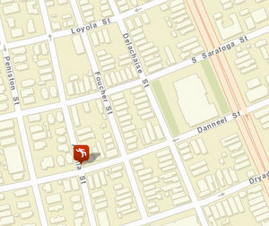 Friday morning's fatal shooting in the 2000 block of Foucher has yet to be loaded into the NOPD crime maps, but a homicide marker shows where a victim was found a block away in September. (map via NOPD)