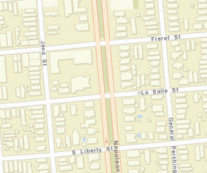 The incident has yet to be uploaded to NOPD crime maps. The 2400 block of Napoleon is between Freret and LaSalle streets. (via NOPD)