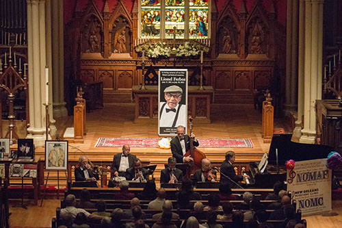 People filled the Trinity Episcopal Church to hear the Orchestra's Tribute. (Zach Brien, UptownMessenger.com)
