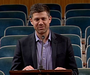 Restaurateur Sean Josephs speaks to the City Planning Commission on Dec. 9, 2014. (via nolacitycouncil.com)