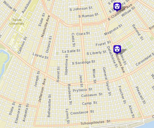 Robberies on South Claiborne and Louisiana. The robbery on Arabella has yet to appear on NOPD crime maps.